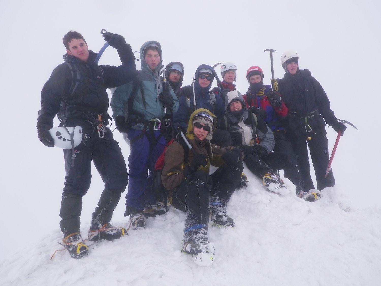 On the summit of Stob Coire nan Lochan