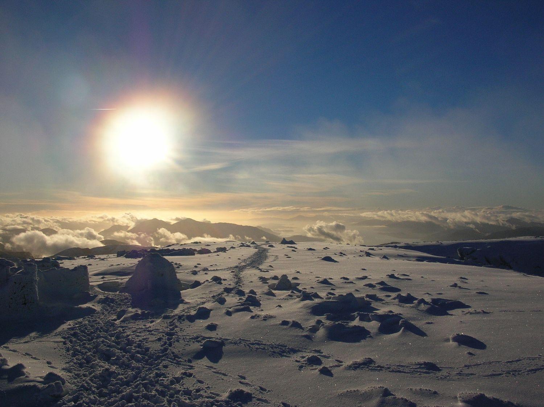 On the summit plateau of Ben Nevis