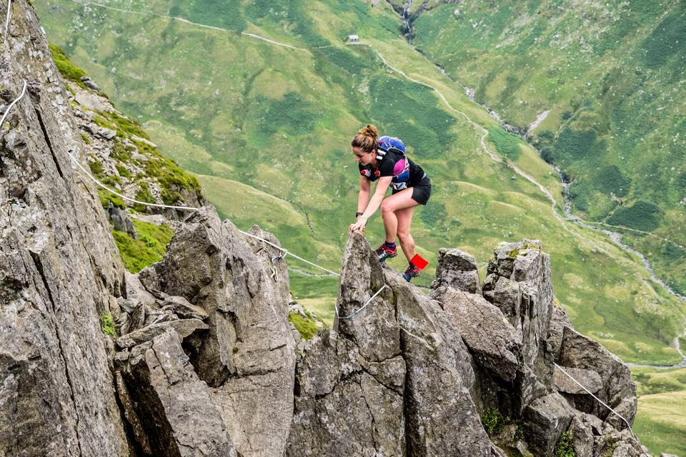 On Pinnacle Ridge in the Lake District, taking part in the the Lakes Sky Ultra