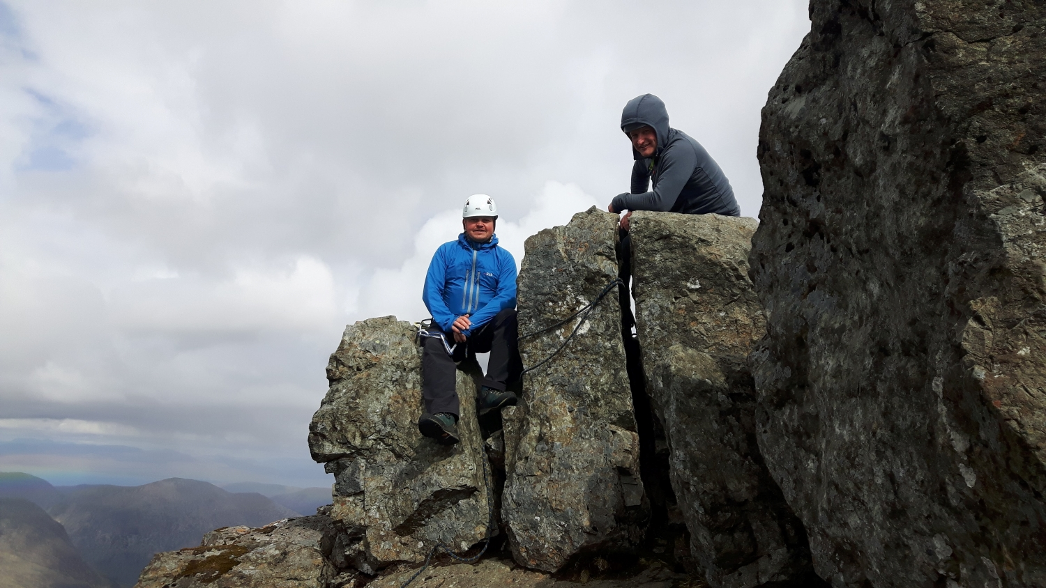 Joe and Paul on the top of the Inaccessible Pinnacle
