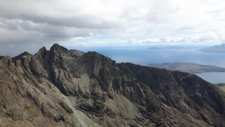 From the Inaccessible Pinnacle, looking at Sgurr Mhic Choinnich, Sgurr Thearlaich and Sgurr Alasdair