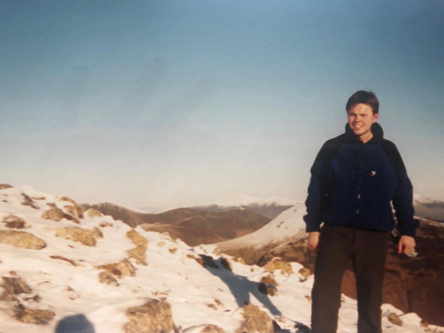 Phil in the Cairngorms in 1997