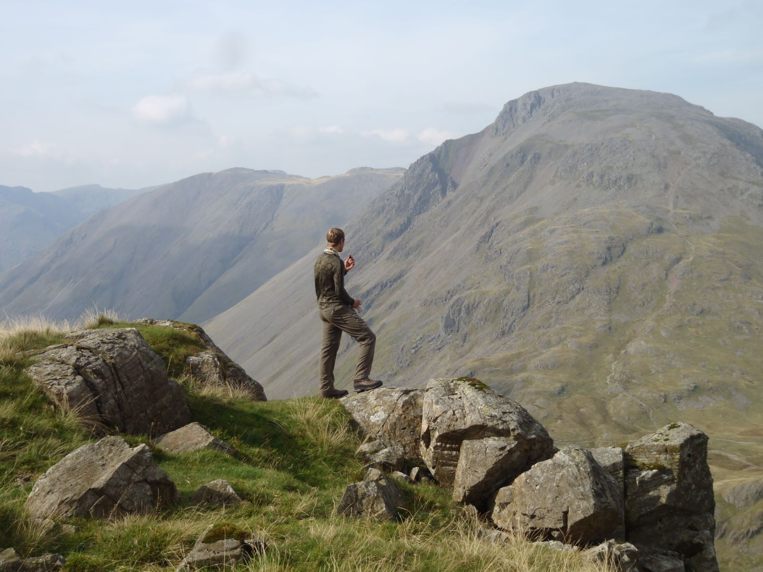 Looking towards Great Gable. Photo credit: Martin Paley (Mountain Leader assessment, September 2014)