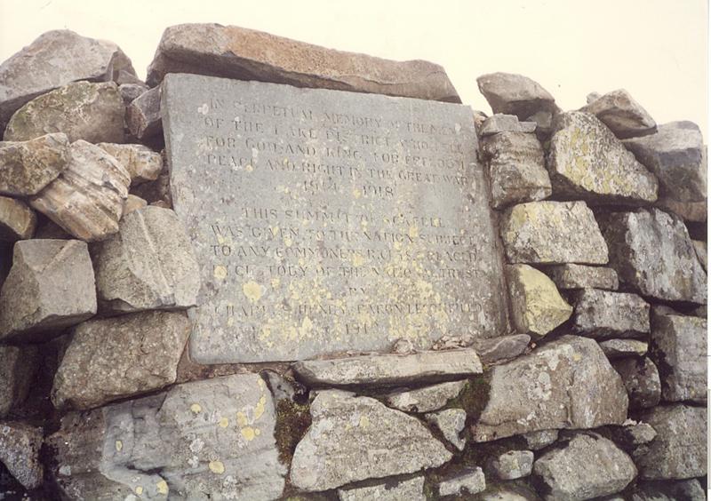 Scafell Pike memorial stone.jpg