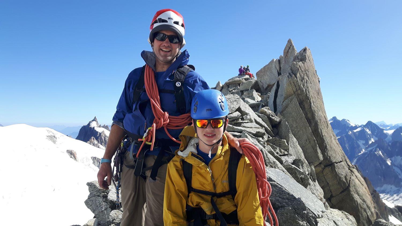 Day three: Rich & Ben just below the summit of Pointe Lachenal