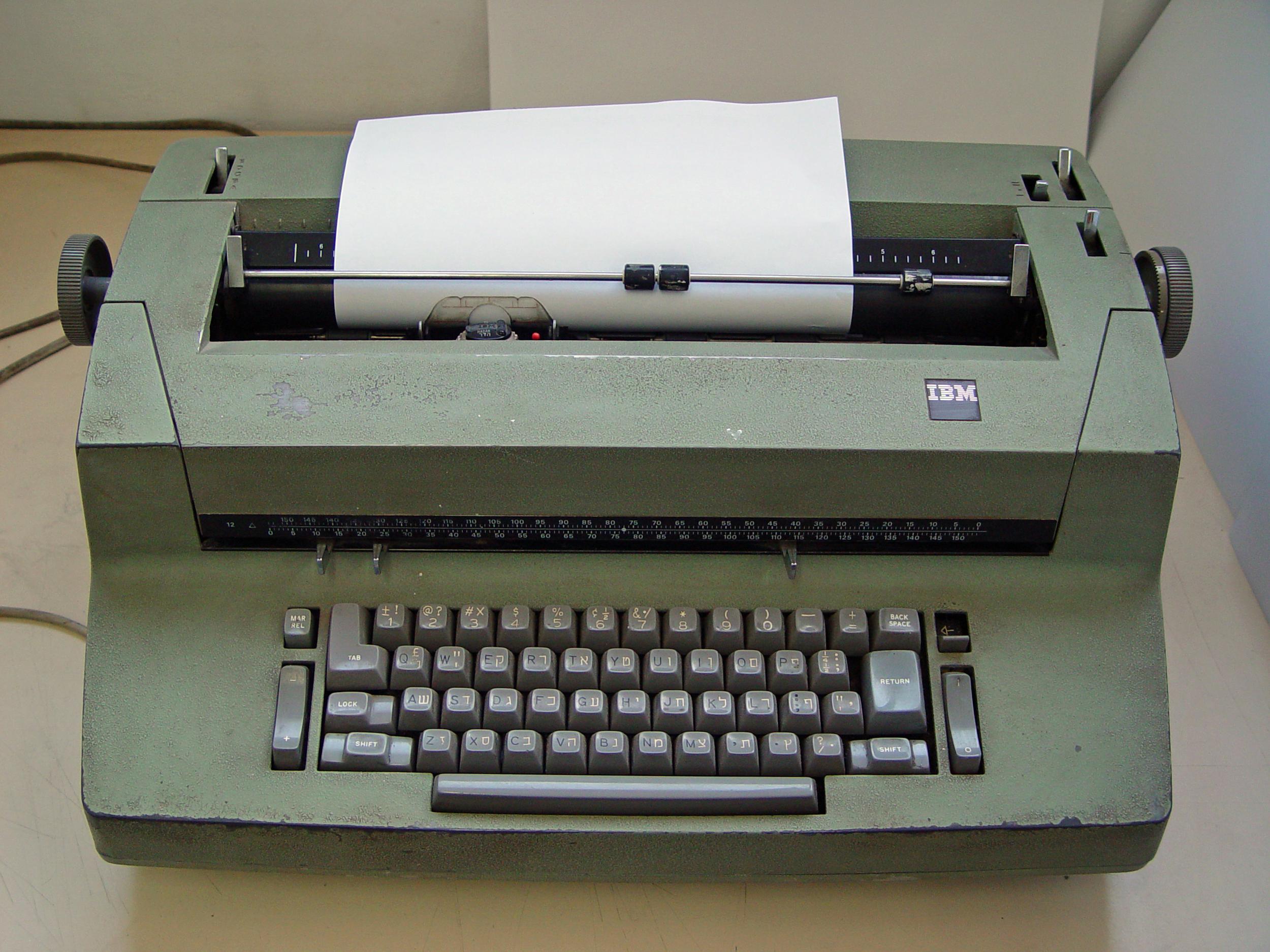 """Image: """"Selectric II"""" by Etan J. Tal - Own work. Licensed under Creative Commons Attribution 3.0 via Wikimedia Commons - http://commons.wikimedia.org/wiki/File:Selectric_II.jpg#mediaviewer/File:Selectric_II.jpg"""