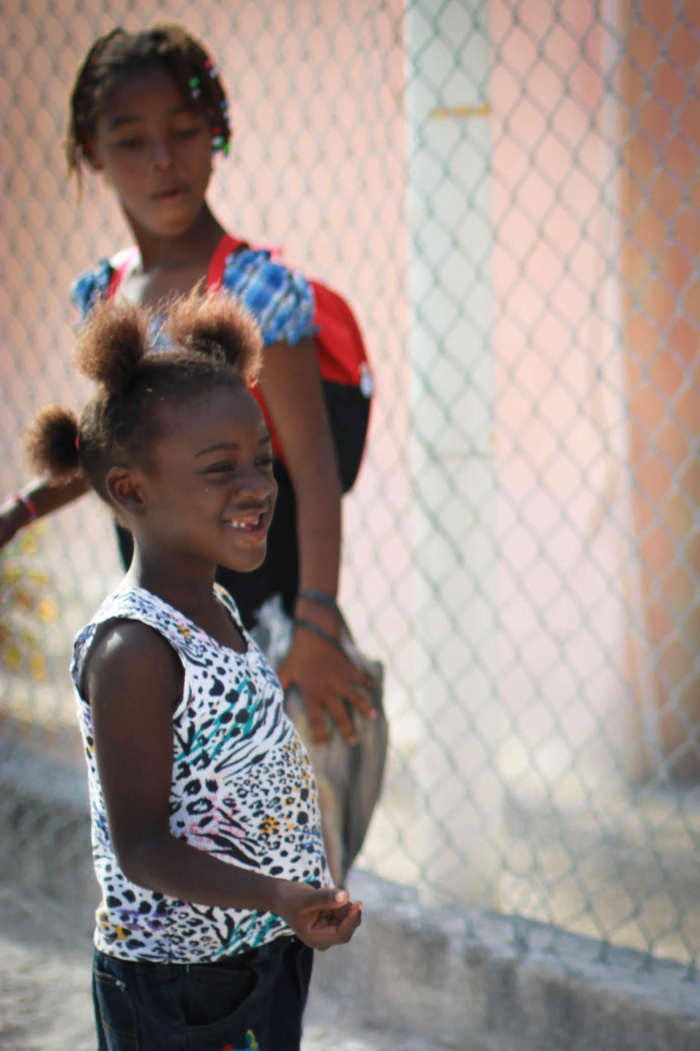 caye caulker smiling girl