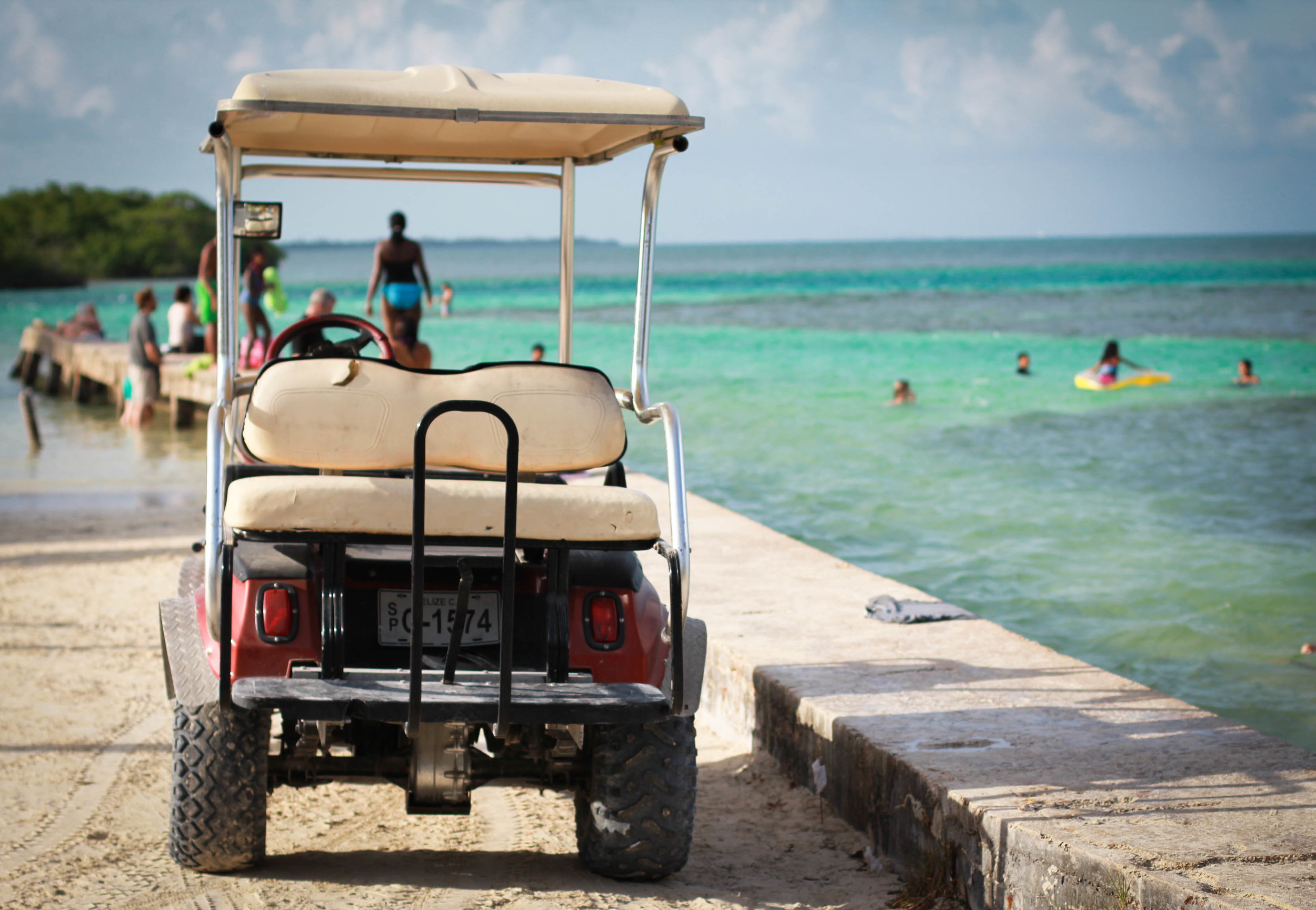 caye caulker golf cart