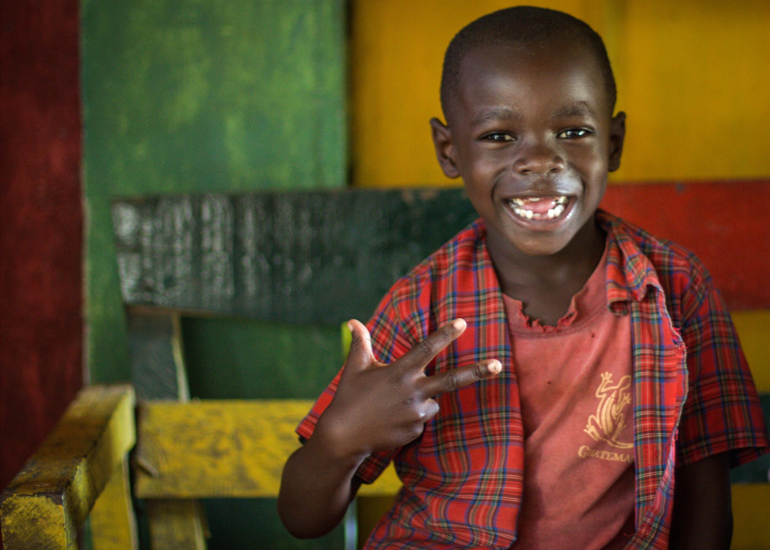 garifuna little boy smiling