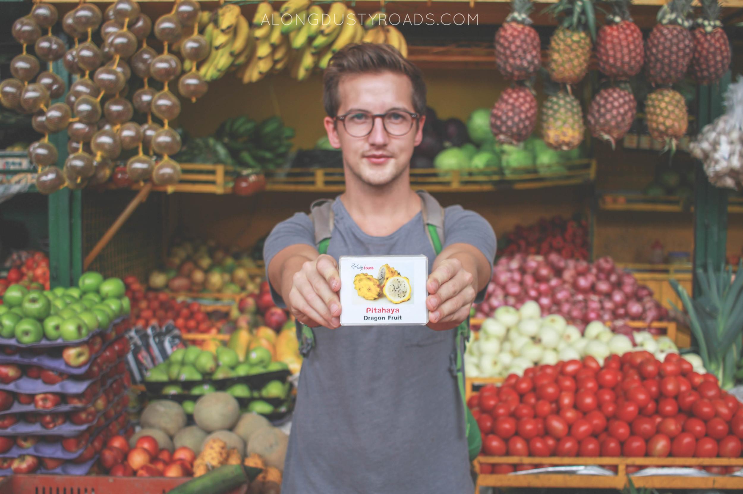 pithaya minorista market exotic fruit tour