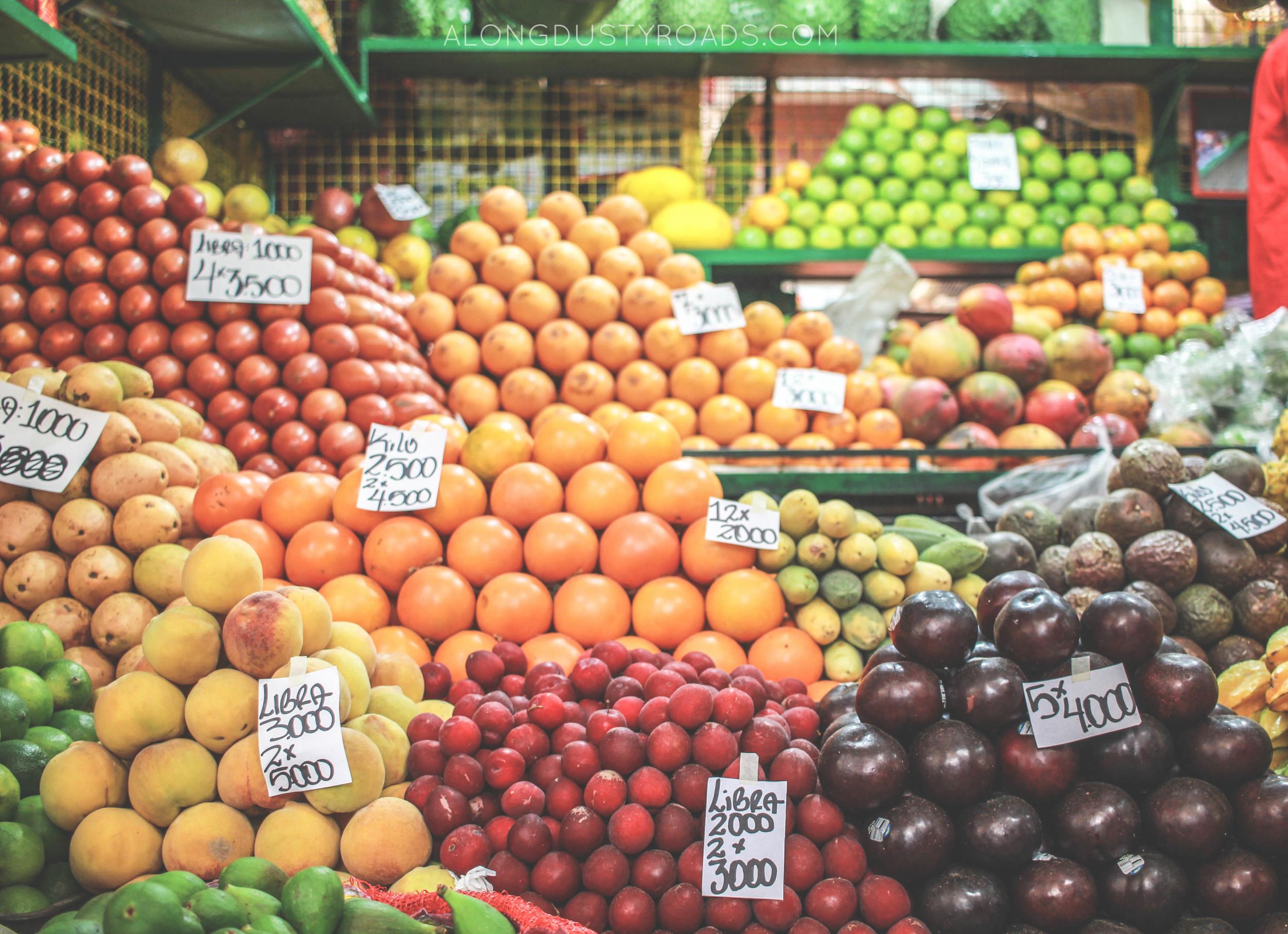 minorista market colourful fruit