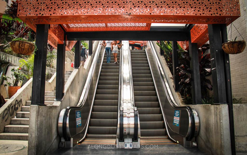 comuna 13 medellin escalators stairs