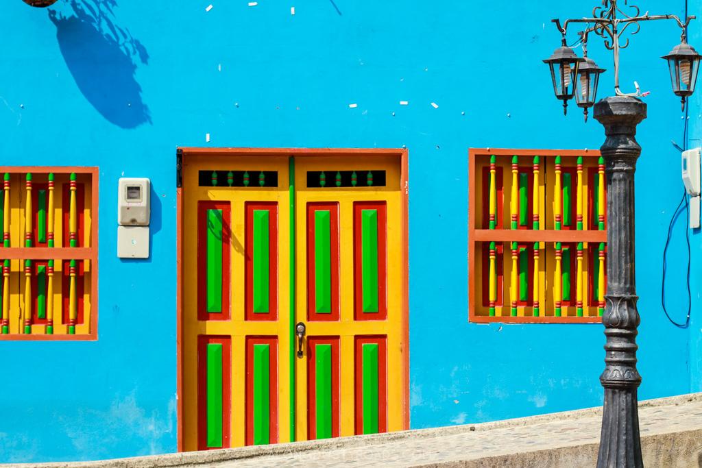 colourful zocalos guatape colombia