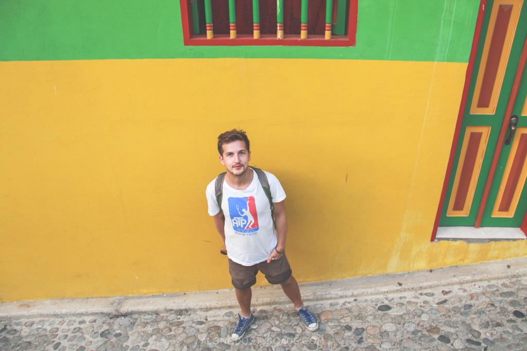 Andrew in Guatapé - alongdustyroads.com