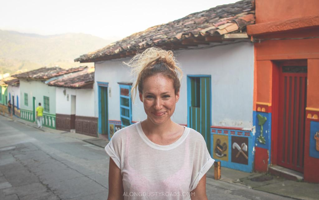 Emily in Guatapé