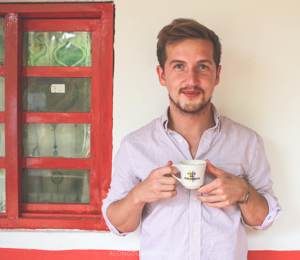 drinking coffee at finca de don elias - alongdustyroads.com
