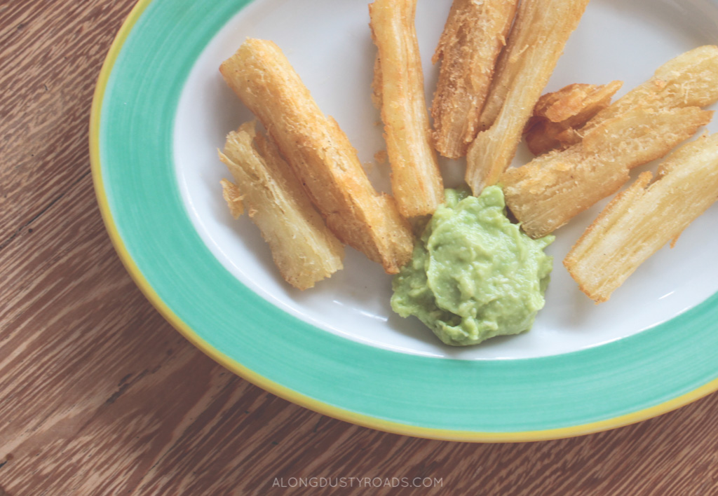 yuca chips, kallari cafe, quito, ecuador