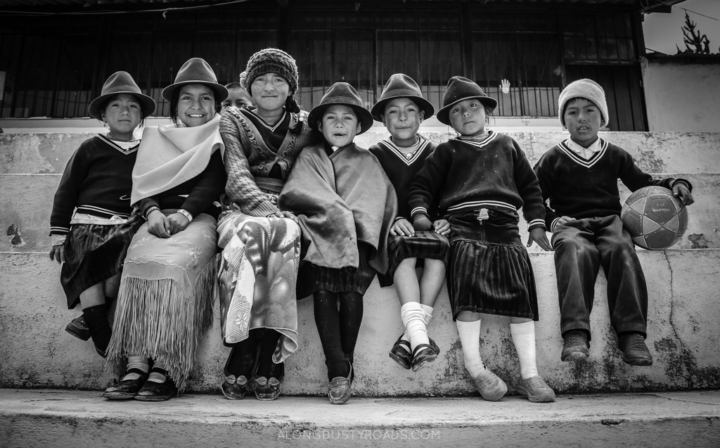 Children on the Quilotoa Loop, Ecuador