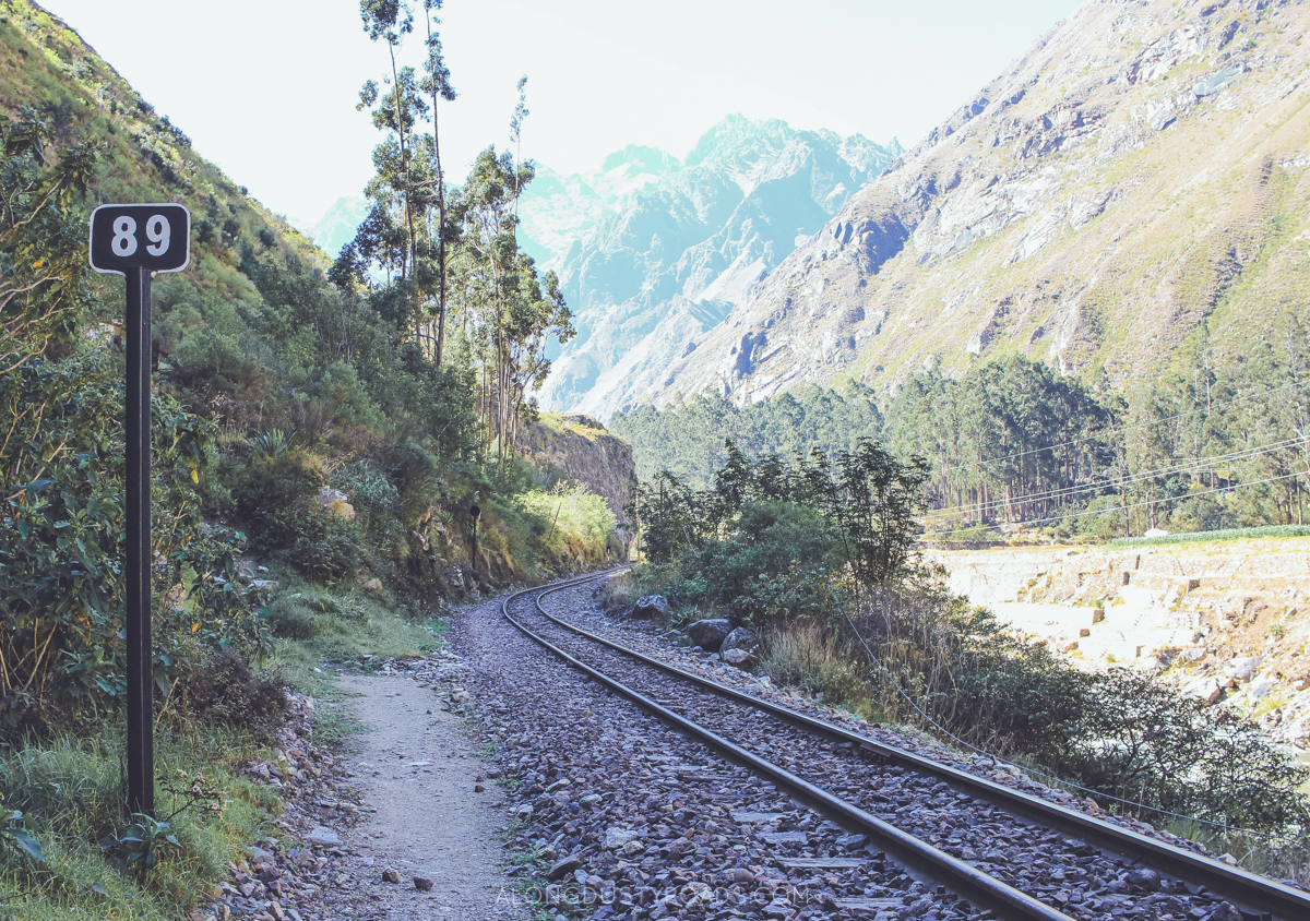 The Cheapest Way to Machu Picchu - Along the train tracks from Ollantaytambo