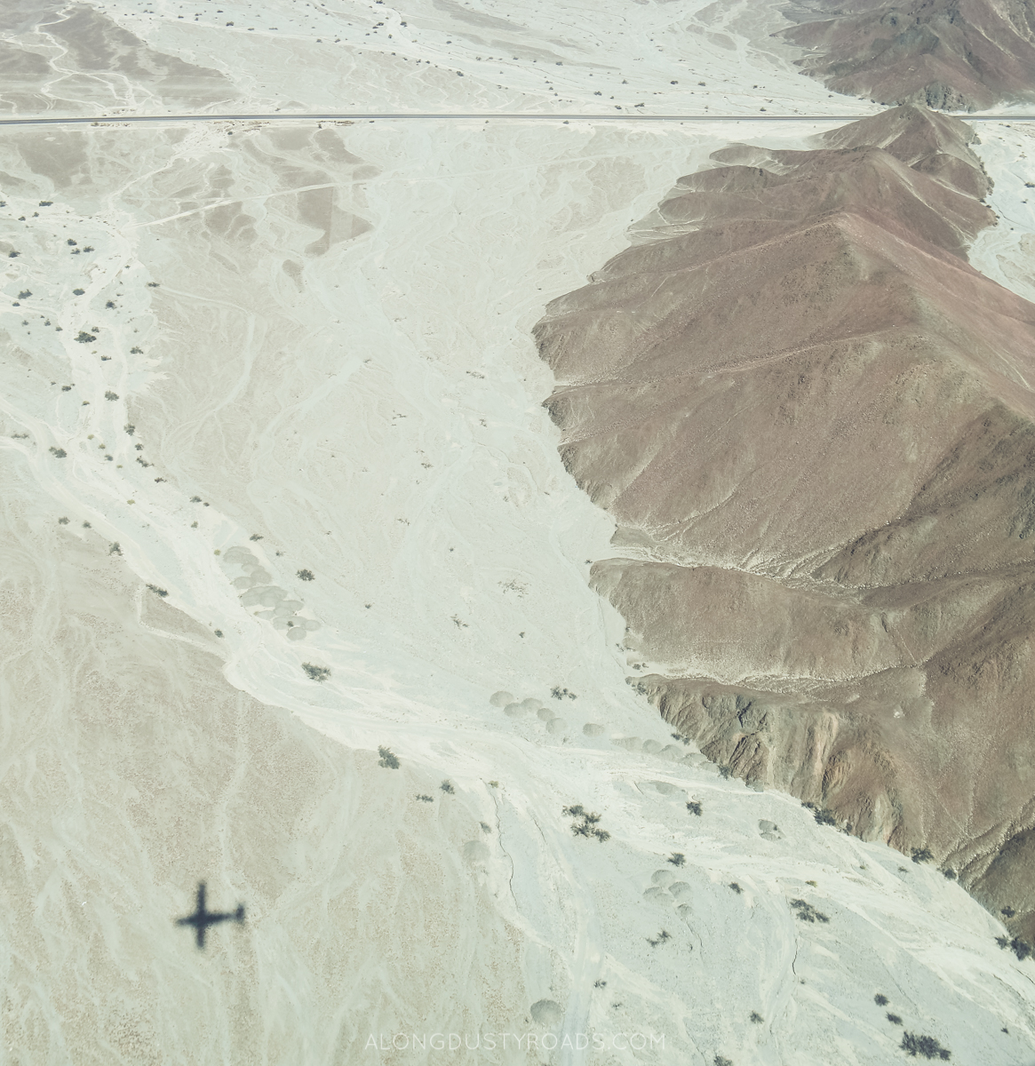 Flying over the Nazca lines, Peru
