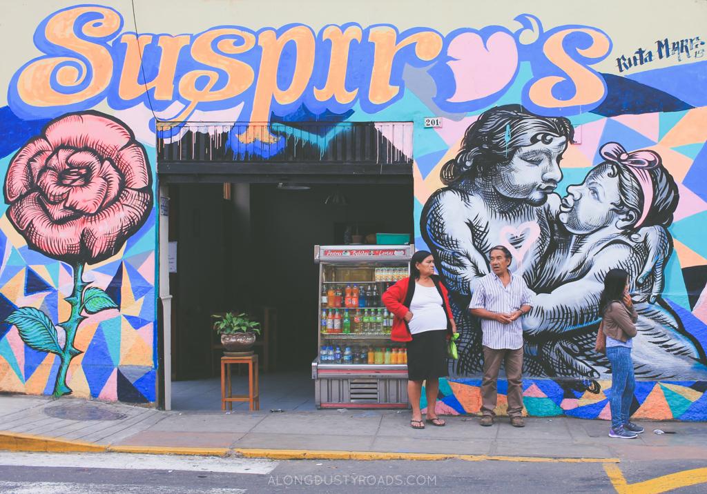 街道艺术在Barranco,利马,秘鲁
