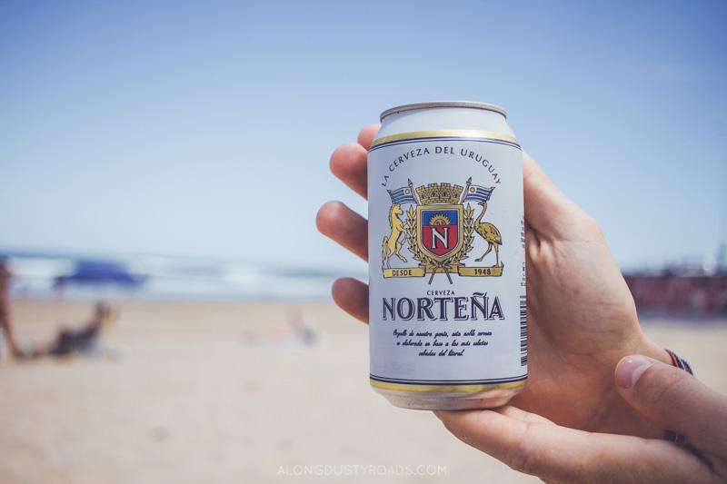 A cold Norteña on the beaches of Punta del Este, Uruguay