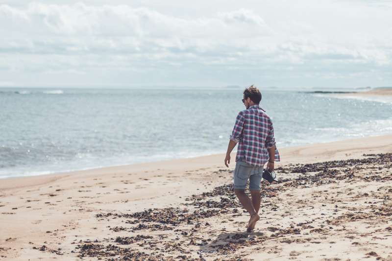 Wandering along the beaches of La Paloma, Uruguay