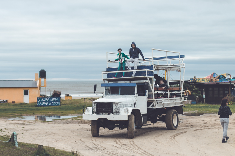 The trucks to get to Cabo Polonio, Uruguay