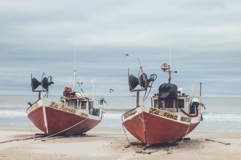 Beautiful boats in Cabo Polonio, Uruguay
