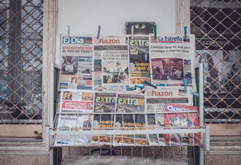 Newspaper Stand - Santa Cruz - Bolivia