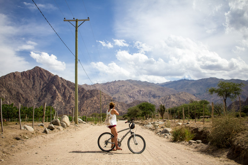 Cycling in Cafayate, Argentina