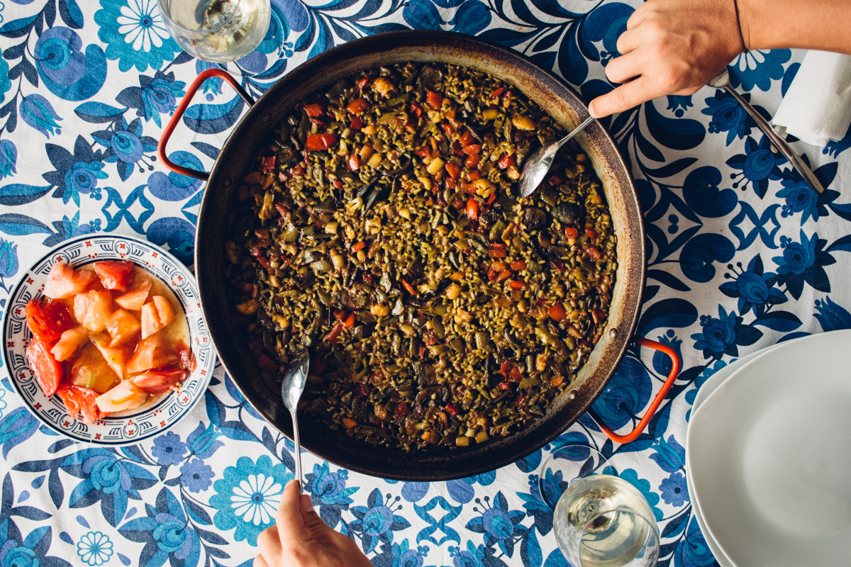 Paella - One of our favourite things to do in Valencia.