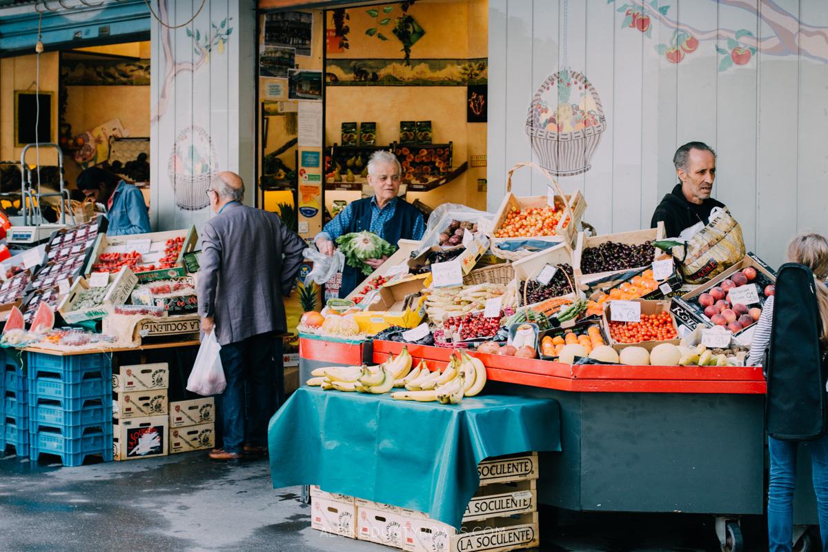 Parisian fruit stall, France