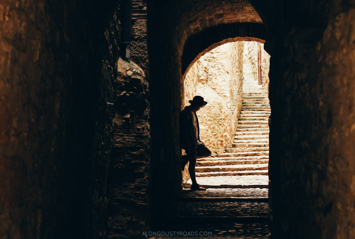 Things to do in Girona - Playing in the shadows in Girona, Spain