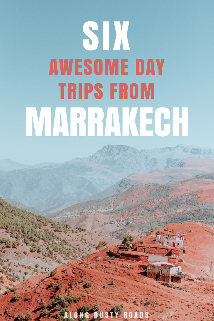 Marrakech is an incredible destination, but just a few hours outside of the city, it gets even more impressive. Here are 6 of the best day trip to take from Marrakech | Ouzoud Falls | Imlil | Ourika Valley | Ouarzazate | Ait Benhaddou | Agafay Desert | Essaouira | Marrakech Tours | Marrakech Excursions | Things to do in Marrakech | Morocco