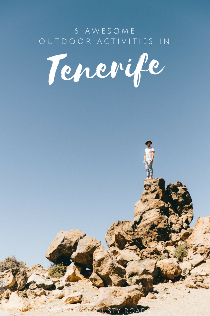 Six amazing outdoor adventures to have in Tenerife, Spain, including surfing, SUP, paragliding, hiking, kayaking and cycling.   Things to do in Tenerife | What to do in Tenerife | Canary islands | Hiking in Tenerife | Surfing in Tenerife  #Spain #Tenerife #Adventure #Hiking #Surfing #Cycling