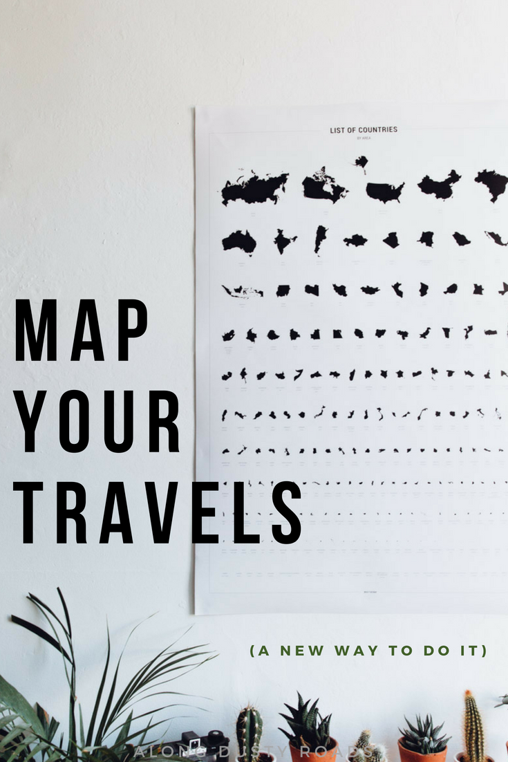 Maps matter, and so do your travels. Bold Tuesday has put together a beautiful and creative way to combine both.