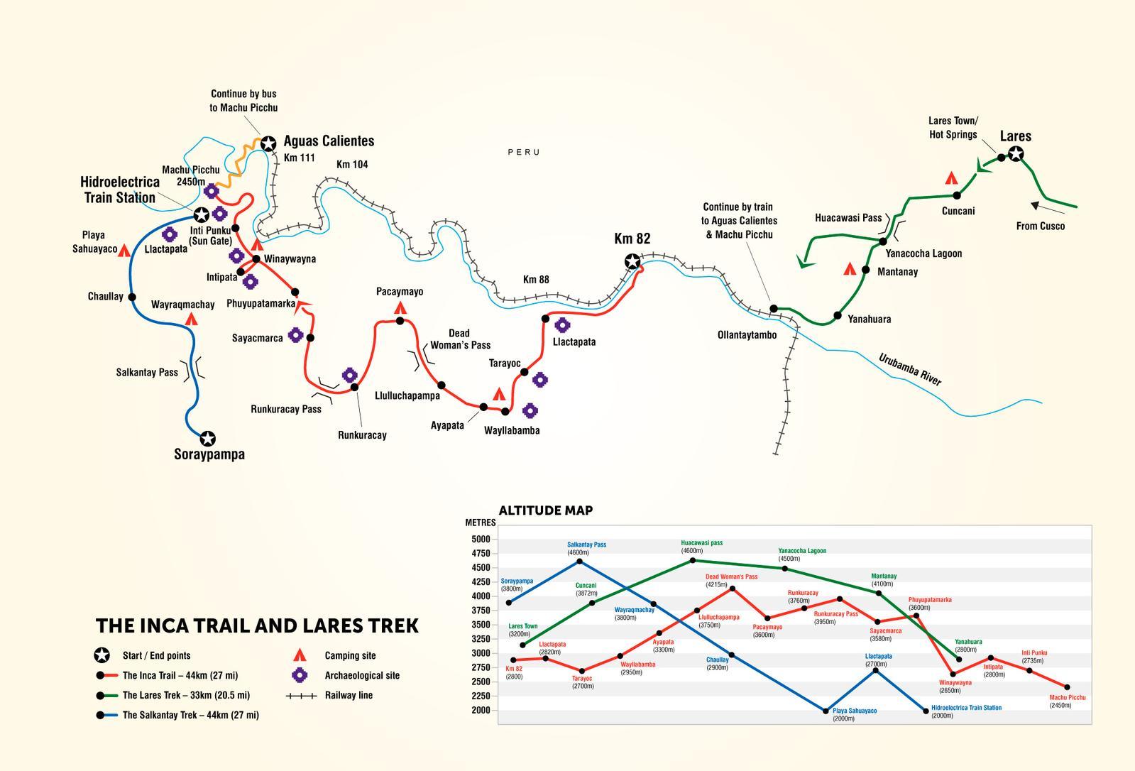 G冒险印加步道地图路线