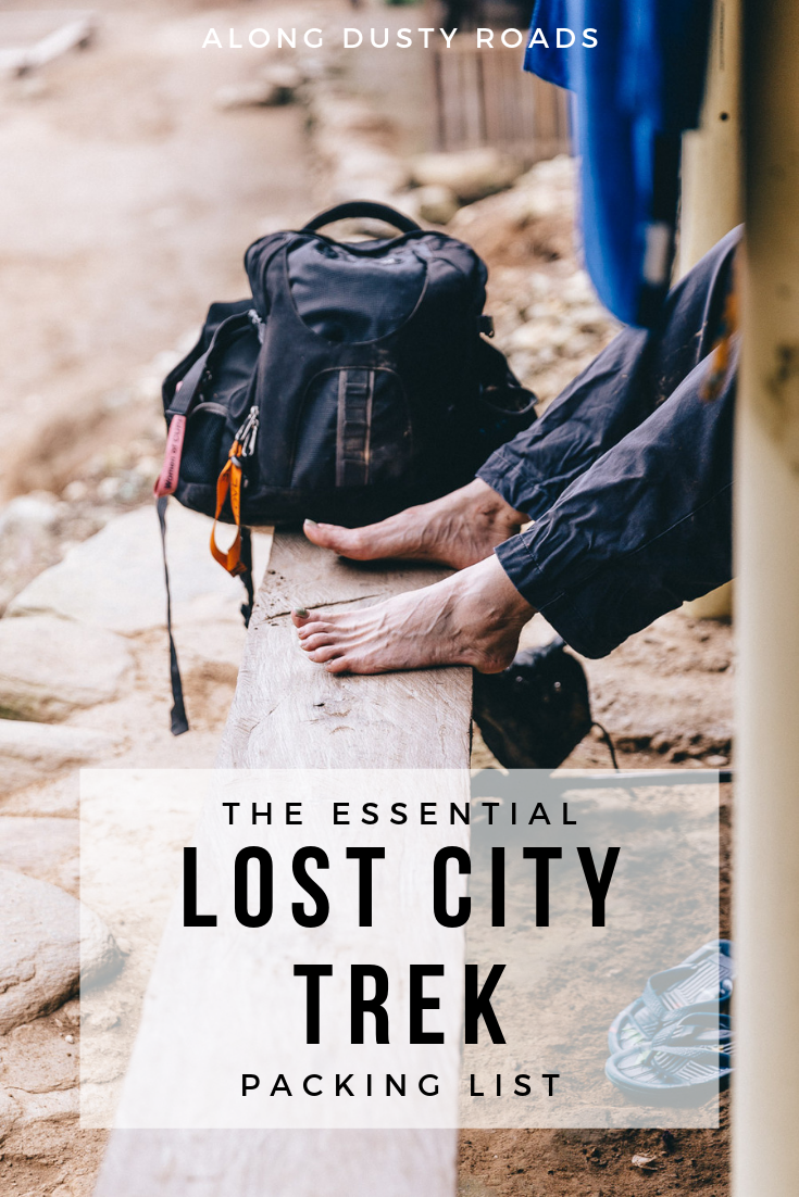 When you hike the Lost City Trek, everything you need must be carried on your back. Here's our essential packing list to keep you prepared for everything!
