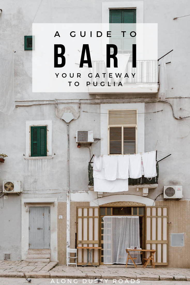 Your gateway to Puglia, Bari is more than just a stop on the road. Find out all the best things to do in Bari, where to stay and where to eat in this guide. #Bari #Puglia #PugliaGuide #Italy #SummerVacation #SummerHoliday #CityBreak #ItalianCity #RoadTrip