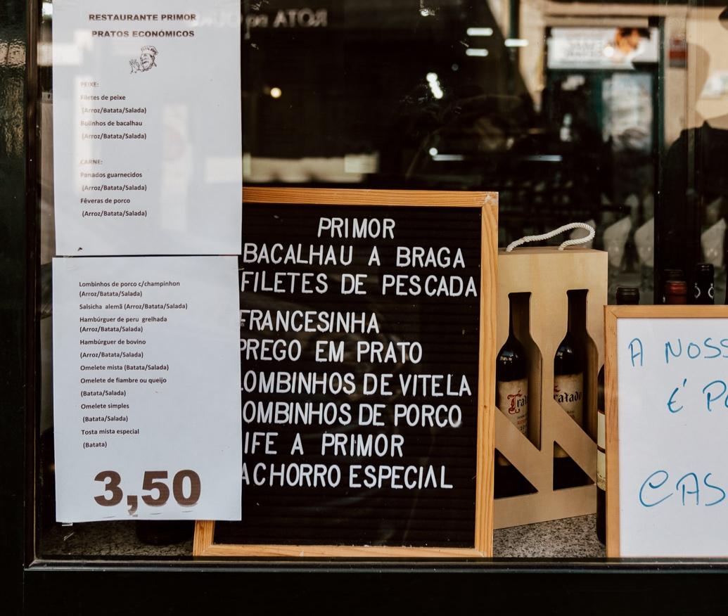 Signage in Porto