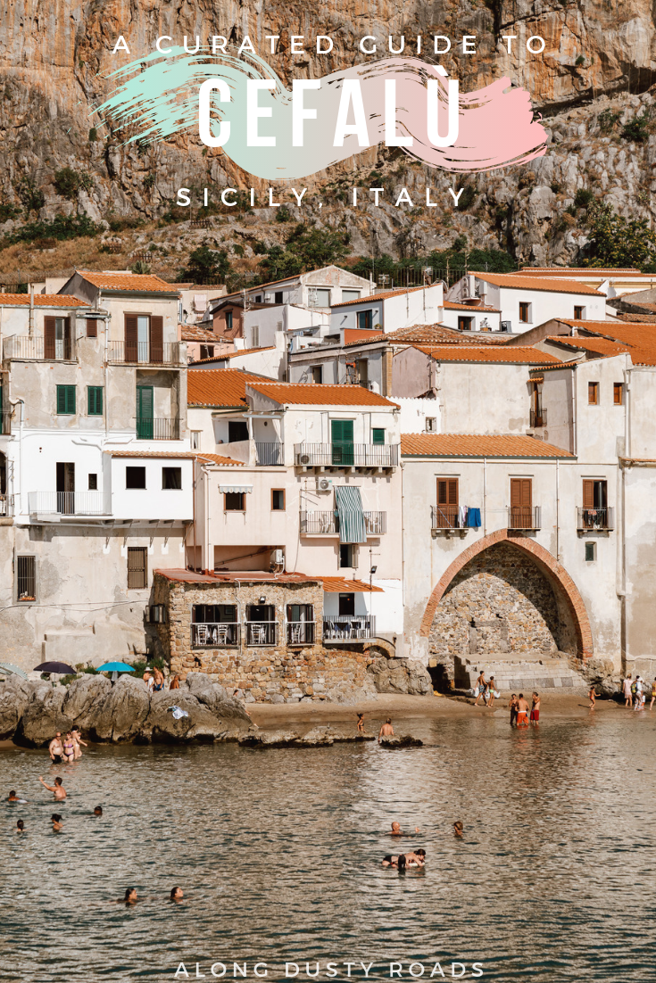 Cefalú, just an hour away from Palermo is one of Siciliy's most enchanting towns. Beautiful beaches, wonderful restaurants and iconic Sicilian vibes - a must do on any Sicily itinerary!  (Things to do in Sicily  | Things to do in Cefalu | Cefalu Guide | Sicily Beaches) #Sicily #Cefalu #Italy #Summer #Holiday  #Europe #Italy