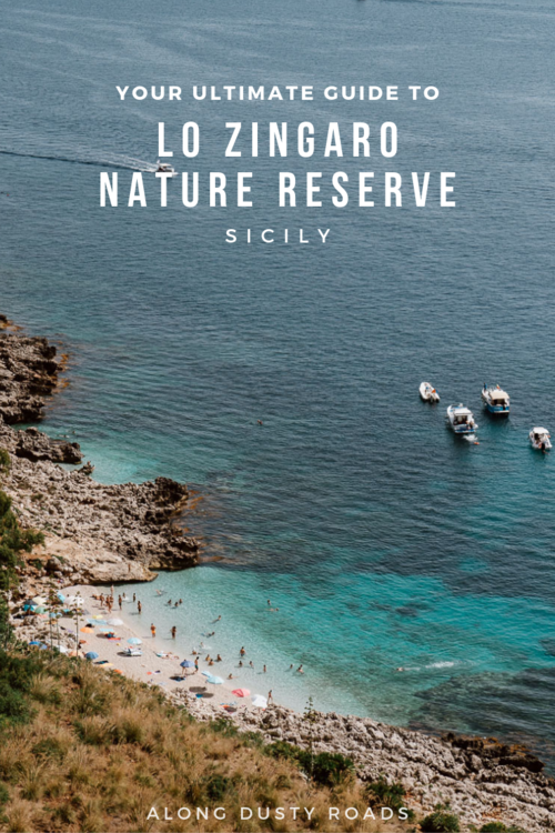 Looking for a way to burn off all those pasta and gelato calories? Head on a day hike to Lo Zingaro Nature Reserve. An easy hiking trail with spectacular views and the most wonderful little coves to take a nap in the sun! #Hiking #Sicily #Italy #Beaches #OutdoorsActivities #Adventure #SecretBeaches #Summer #Vacation