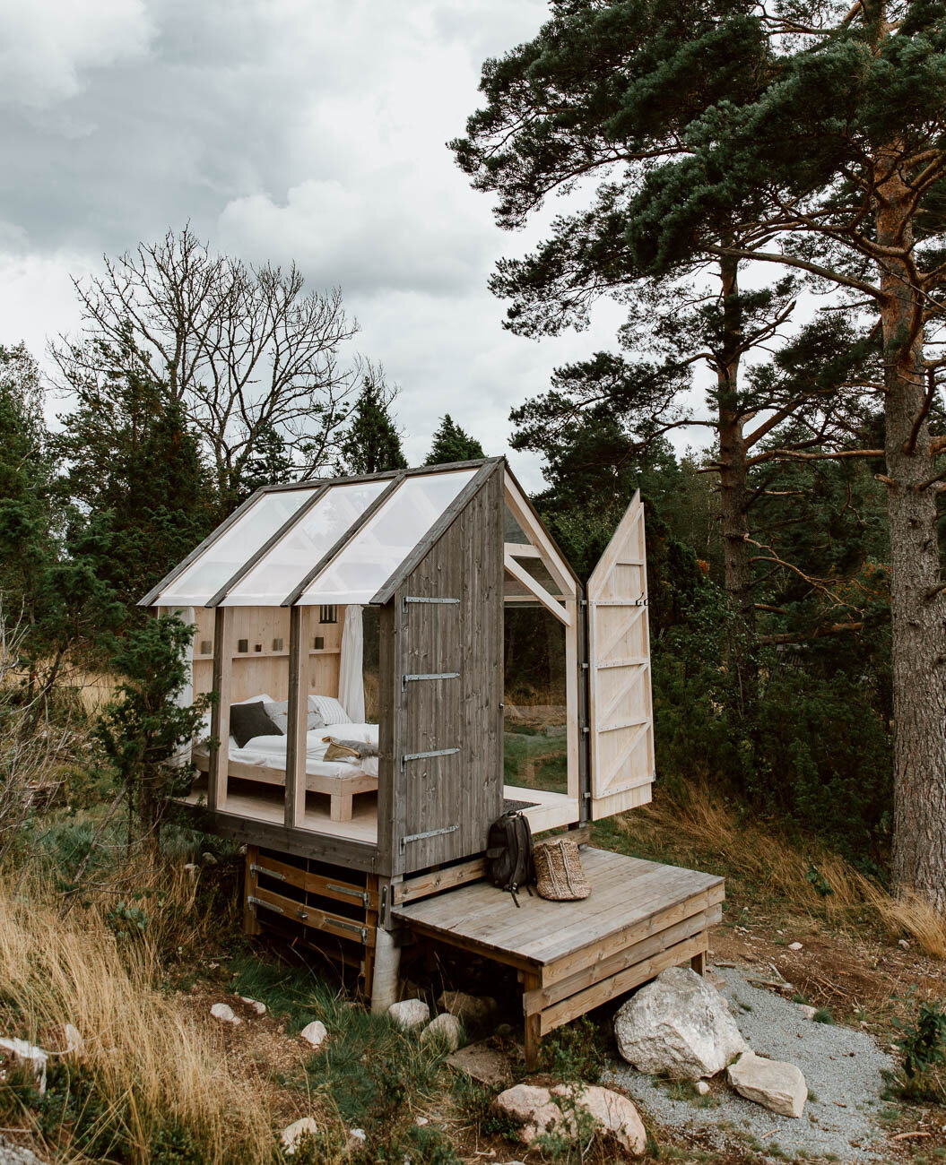 Glass Cabins in the Forest, Sweden - Along Dusty Roads