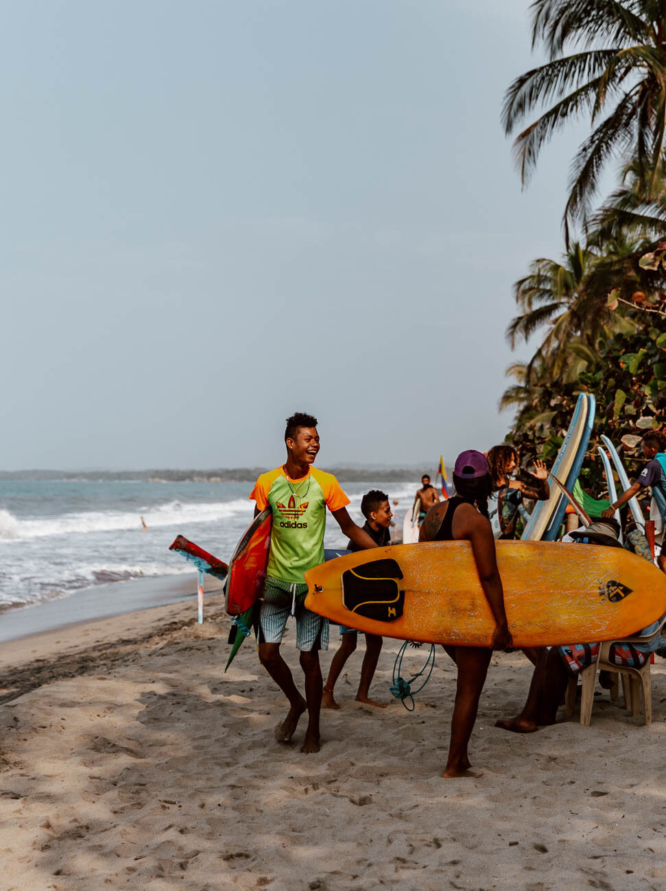 Surfing in Palomino, Colombia