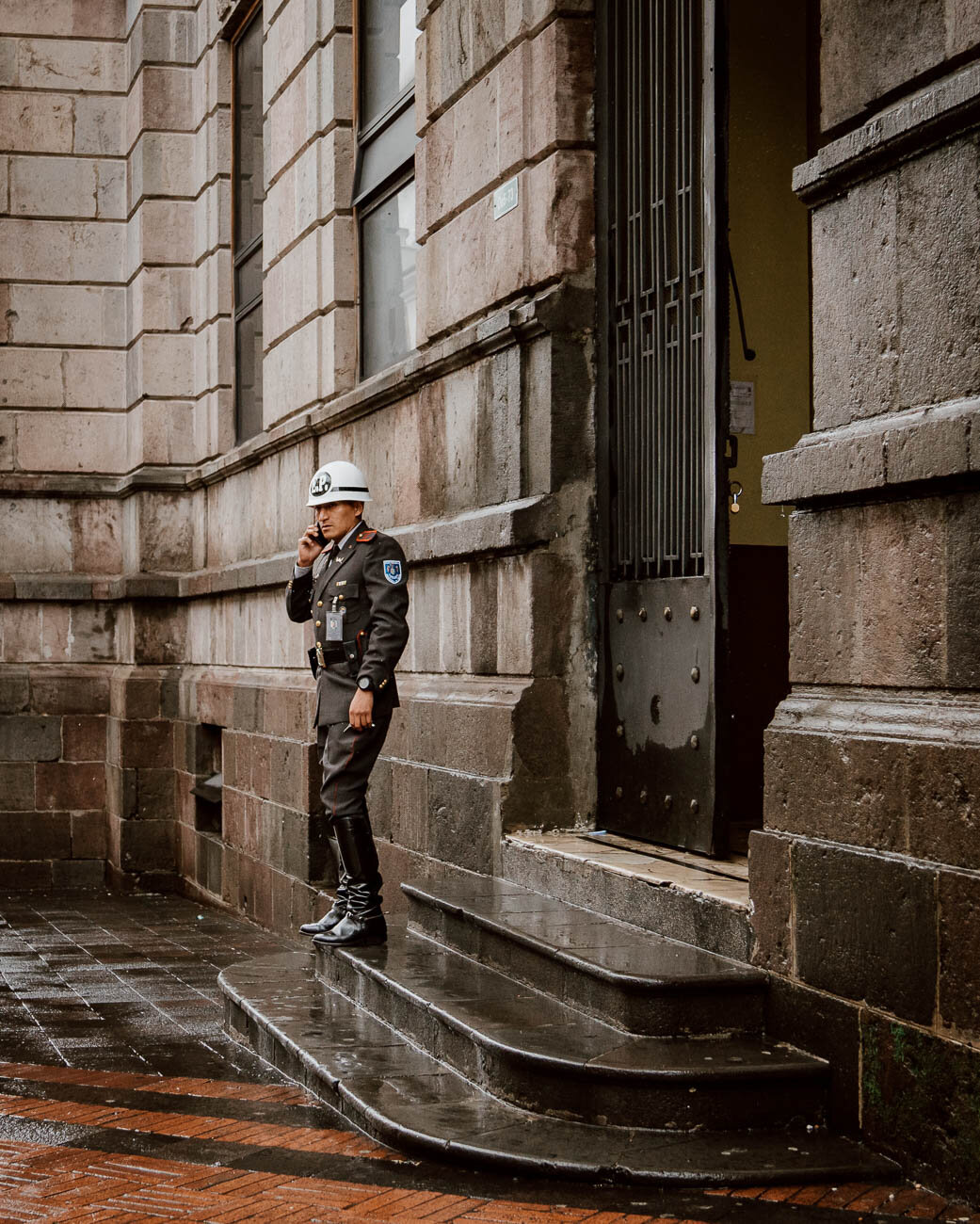 Things to do in Quito - Explore the old town - Soldier in Front of Government Building