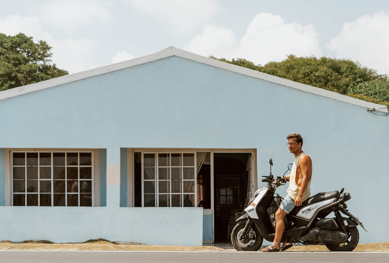Rent a Motorbike in San Andres Colombia |  Along Dusty Roads