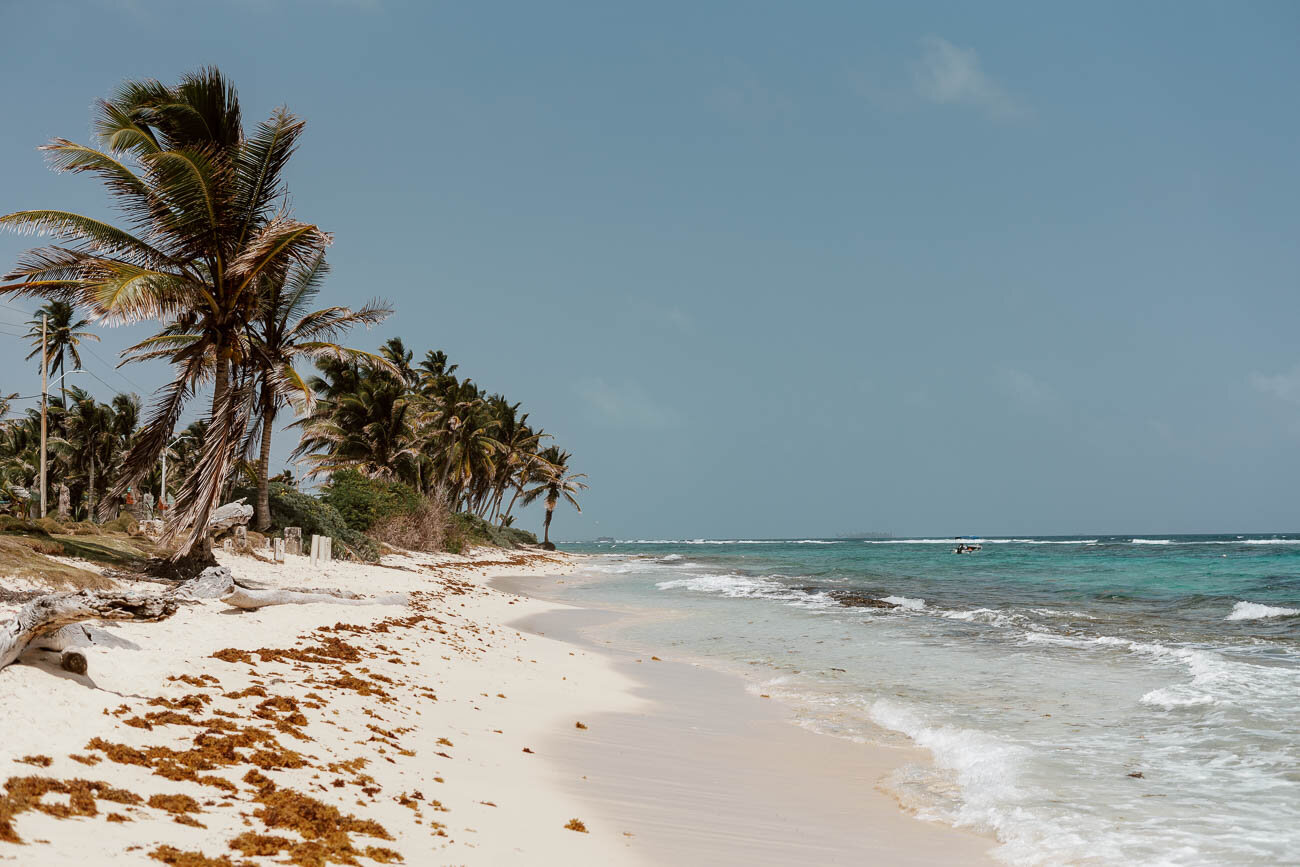 A Beach in San Andres Colombia   Along Dusty Roads