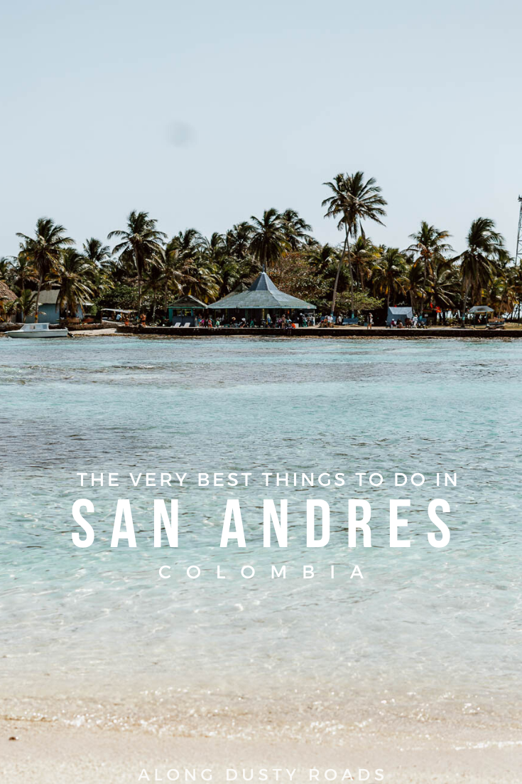 San Andres, Colombia's Caribbean island getaway is awash with stunning beaches, beautiful bays and is a joy to explore by scooter or golf cart. Find out all the best things to do in San Andres. #Colombia #SanAndres #Beaches #Vacation #Caribbean #Diving #Snorkelling