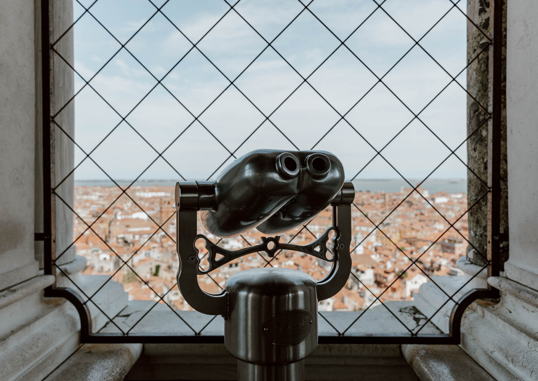 威尼斯圣马克钟楼的景色